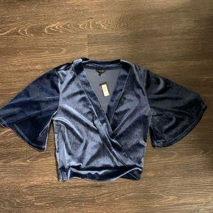 2 for $20 R&w co velvet navy top